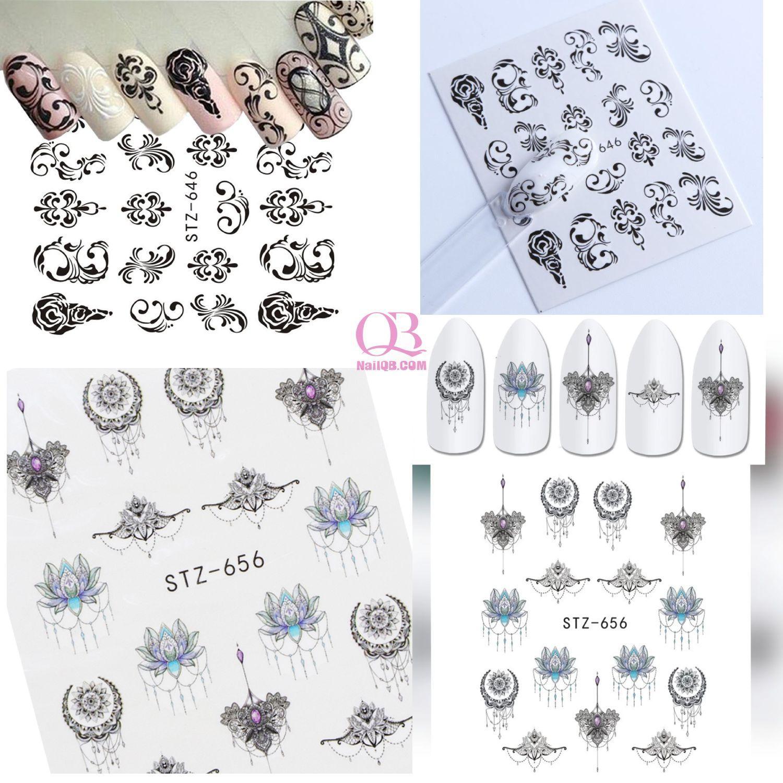 Set 2 tấm nail sticker xăm nước dán móng STZ646-656 tốt nhất