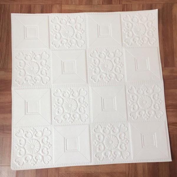 Xốp dán trần, dán tường 3D hoa văn giả da kích thước 70x70cm
