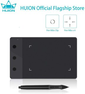 HUION H420 OSU Tablet Graphics Drawing Signature Pad with 3 Express Keys (4-by-2.23 Inches) (Black) thumbnail