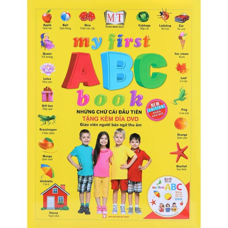 Sách - My first ABC book-Những chữ cái đầu tiên (bìa cứng) Mhbooks tặng Bookmark