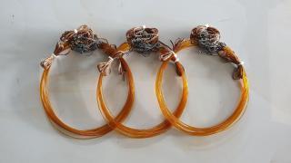 3 bộ thòng dây màu cỏ khô ( 3 bộ 60 vòng bẫy quốc , bịp đường kính 9cm ) bẫy gà cước thái, dù siêu bền, khoen đồng hàng thái lan ( 3 bộ 60 vòng dài 6m ) thumbnail