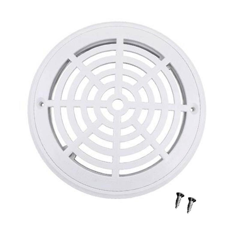 Swimming Pool Water Filter Anti-Corrosion Cover Round Drain Device Screw Abs Floor Drain Cover Round Main Drainage Port