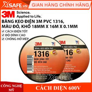 Băng keo điện PVC 3M 1316 cực bền siêu dính khổ 18mm x 16m thumbnail