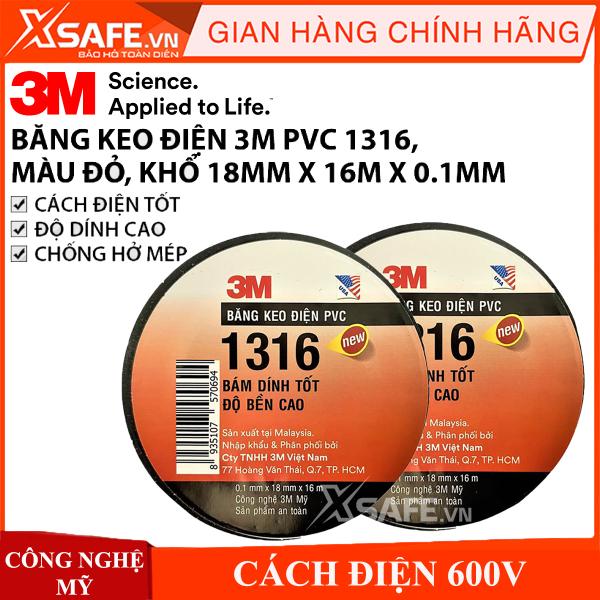 Băng keo điện PVC 3M 1316 cực bền siêu dính khổ 18mm x 16m