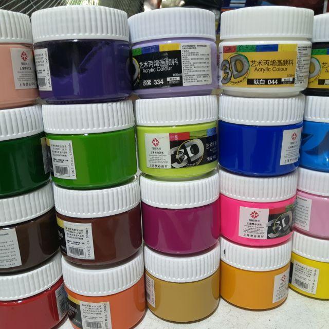 Mua Màu Acrylic 3D 100ml ( đủ tất cả các màu cơ bản )