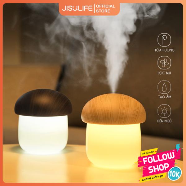 Máy phun sương nano tạo ẩm không khí 250ml hình nấm dễ thương Jisulife JM02 - Máy toả hương tinh dầu giảm stress kiêm đèn ngủ để bàn tiện lợi, tự động ngắt điện an toàn khi hết nước (Bảo hành 12 tháng)