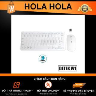 [HCM]Combo bàn phím và chuột không dây thời trang Detek W1 1000 DPI (Trắng) thumbnail