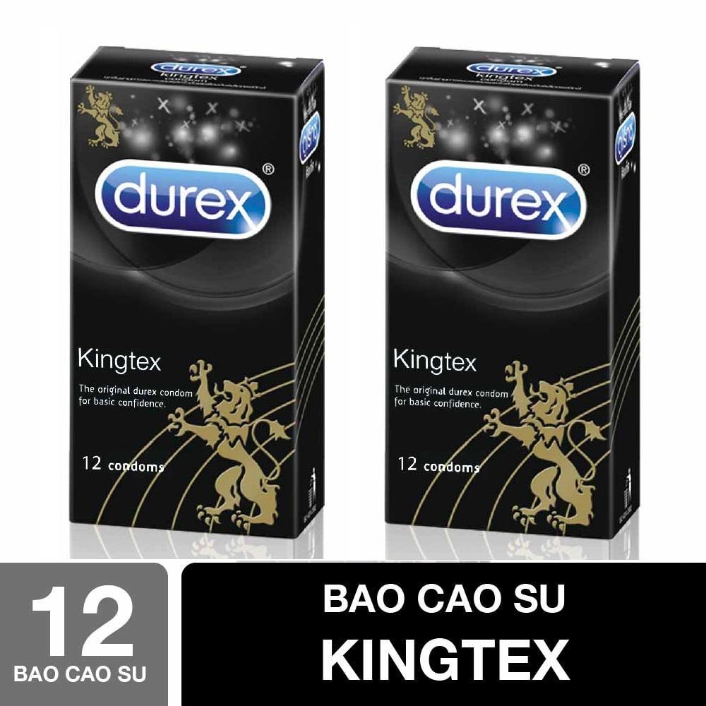 Bộ 2 Hộp Bao cao su Durex Kingtex 12Pcs - Sản phẩm CHÍNH HÃNG nhập khẩu