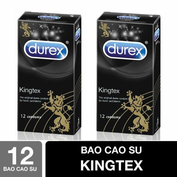 Bộ 2 Hộp Bao cao su Durex Kingtex 12Pcs - Sản phẩm CHÍNH HÃNG