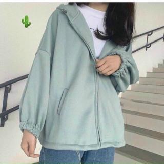 Áo khoác zip form rộng có mũ đơn giản đầy phong cách TTPK0051 thumbnail