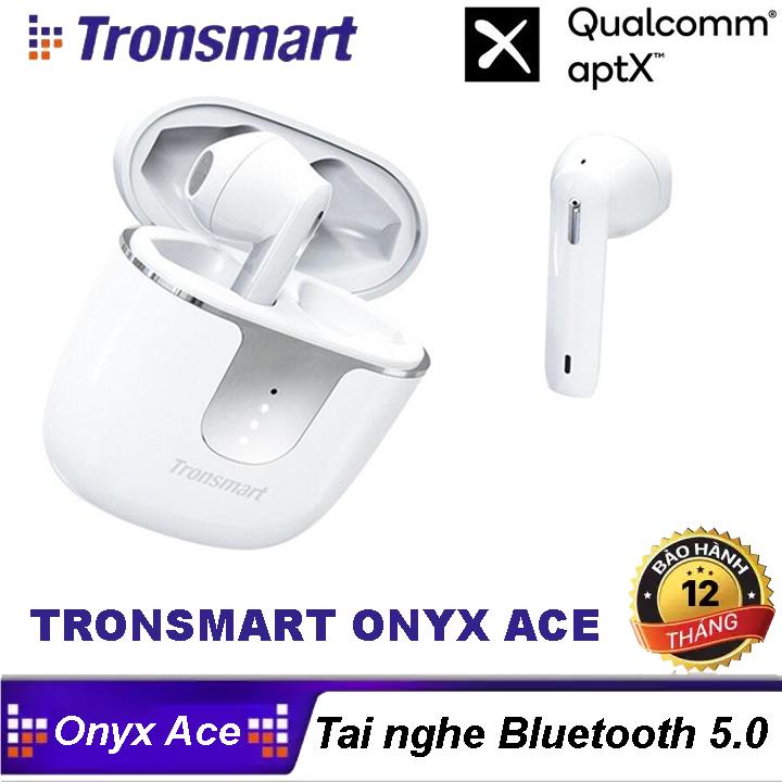 Tai Nghe Bluetooth Tronsmart Onyx Ace TWS không dây 5.0 chống nước IPX5 tích hợp công nghệ Qualcomm APTX hủy tiếng ồn cao cấp Với 4 Micro, 24H Giờ Chơi - 12 Tháng Bảo Hành