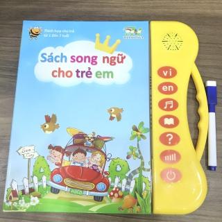 Sách Điện Tử Thông Minh Cho Bé - Sách Song Ngữ Cho Bé - Phù Hợp Cho Trẻ Từ 2-7 Tuổi (Tặng Bút Viết Xóa )(có hai lựa chọn xin quý khách lựa chọn kỹ trước khi mua hàng) thumbnail