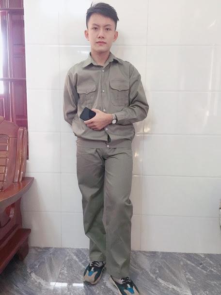 Quần áo bảo hộ lao động kaki liên doanh SHUNI021B giá rẻ cho công nhân viên, kỹ sư cơ khí hình thật có sẵn