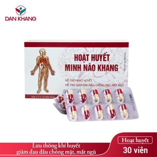 Viên Uống Hoạt huyết Minh Não Khang (Hộp 3 vỉ x 10 viên) thumbnail