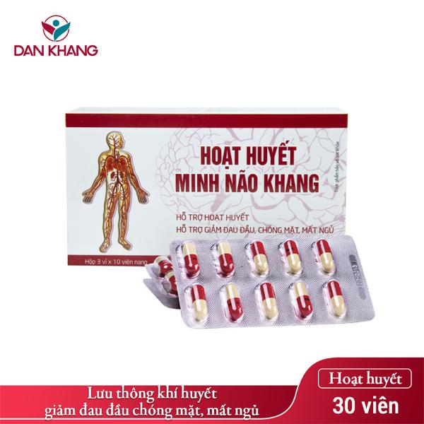 Viên Uống Hoạt huyết Minh Não Khang (Hộp 3 vỉ x 10 viên) nhập khẩu