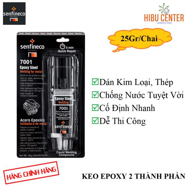 {Cao Cấp} Keo Dán Thép Hai Thành Phần SENFINECO 7001 Epoxy Steel Welding 25GR/ Chai – HÀNG CHÍNH HÃNG