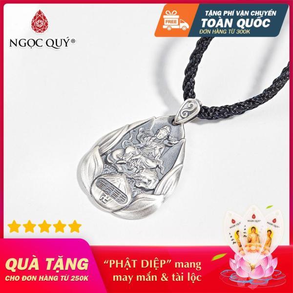 [HCM]Mặt Dây Chuyền Bạc Phật Phổ Hiền Bổ Tát tuổi Thìn Tỵ 3.6*2.6cm - Ngọc Quý Gemstones
