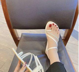 [HCM]Dép nữ- Xăng đan đế bằng xỏ ngón 2 màu siêu đẹp chuẩn thời trang thumbnail