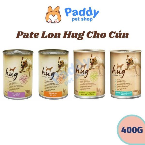 [HCM]Pate Hug Nhiều Vị Thơm Ngon Cho Chó Mọi Lứa Tuổi (Lon 400g)