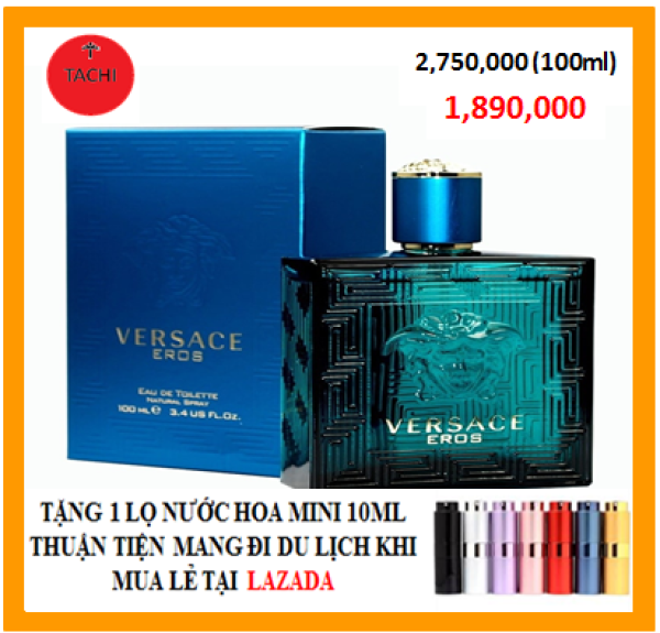 Nước Hoa Nam Versace EROS EDT 100ml BAO TEST-[SIÊU SALE]