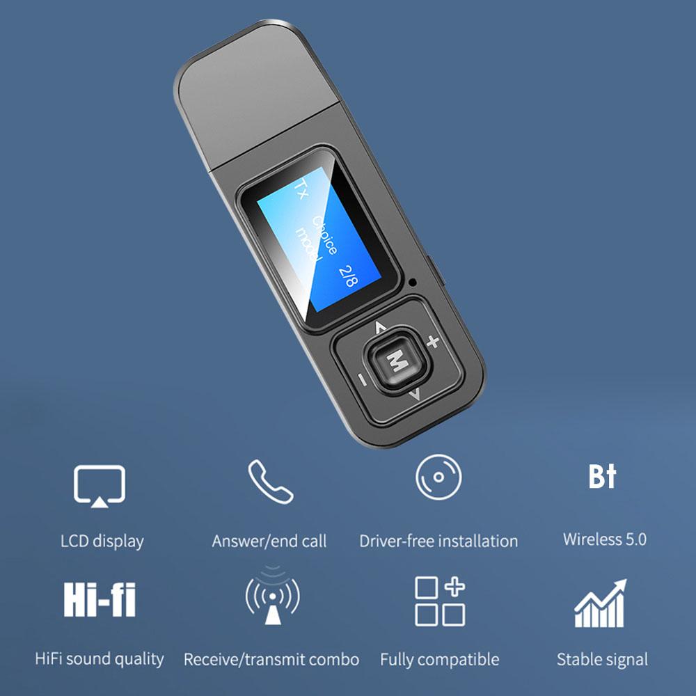 CEBTHP Cho TV PC Xe Hơi USB Dongle, Máy Phát Không Dây, Bộ Chuyển Đổi Âm Thanh Bluetooth Receiver Adapter
