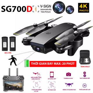 (NEW 2020) TẶNG 1 PIN + TẶNG BALO - FLYCAM SG700D Camera 4K HD, Hai camera kép, thời gian bay 20p, Wifi 2.4G tích hợp tối đa các thiết bị di động - HÀNG CHÍNH HÃNG BẢO HÀNH 3 THÁNG
