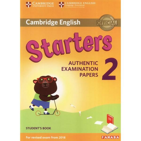 Sách - Cambridge English - Starters 2 (For Revised Exam From 2018)|Không Kèm CD