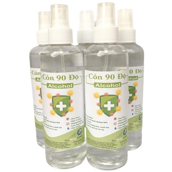 [Vòi xịt] Chai 250ml cồn y tế 90 độ dùng sát khuẩn, rửa tay giá rẻ