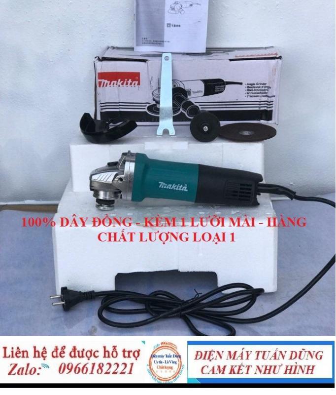 Máy mài makita 9556 CÔNG TẮC ĐUÔI - kèm 1 lưỡi mài - 100% dây đồng - hàng chất lượng loại 1