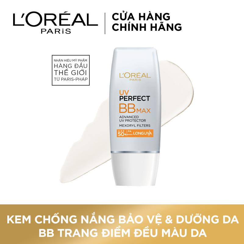 Kem chống nắng bảo vệ & dưỡng da trang điểm LORÉAL BB Cream UV Perfect Max SPF 50+ PA+++ 12h 30ml nhập khẩu