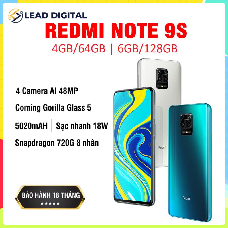 [GLOBAL VERSION] Điện thoại Xiaomi Redmi Note 9S 4GB/64G | 6GB/128GB - FULL TIẾNG VIỆT, Snapdragon 8 nhân 720G, Màn hình 6.67 inches, Pin siêu khủng 5020mAh sạc nhanh 18W, Camera 48MP/8MP/5MP/2MP góc siêu rộng - BH 18 tháng