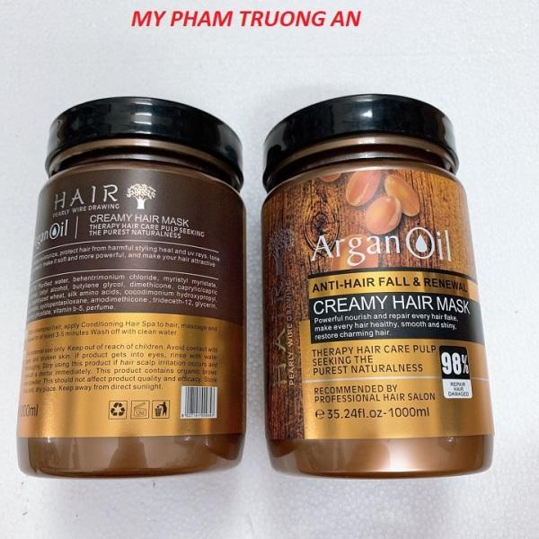 Kem ủ phục hồi tóc hư tổn siêu mượt Argan Oil 1000ml giá rẻ giá rẻ