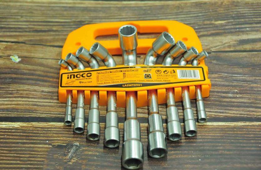 7-19mm Bộ 9 chìa lục giác vặn góc chữ L INGCO LASWT0901
