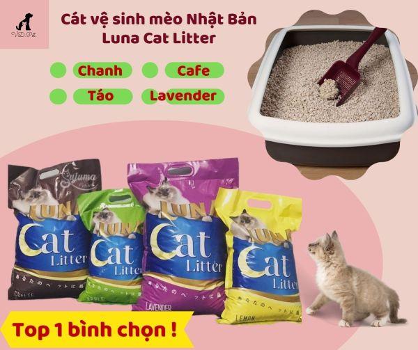 Cát vệ sinh mèo Nhật Bản Luna Cat Litter 8L