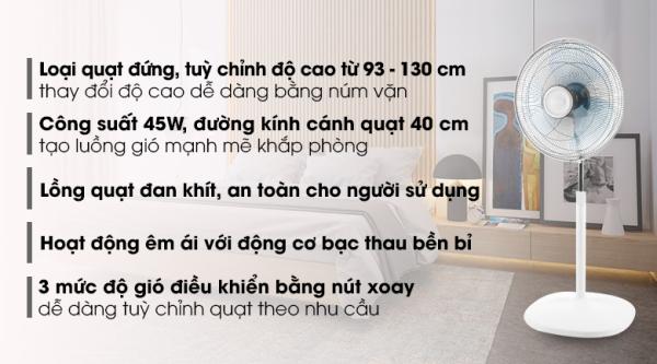 Quạt đứng Asia D16027-TV0( HÀNG TRƯNG BÀY).