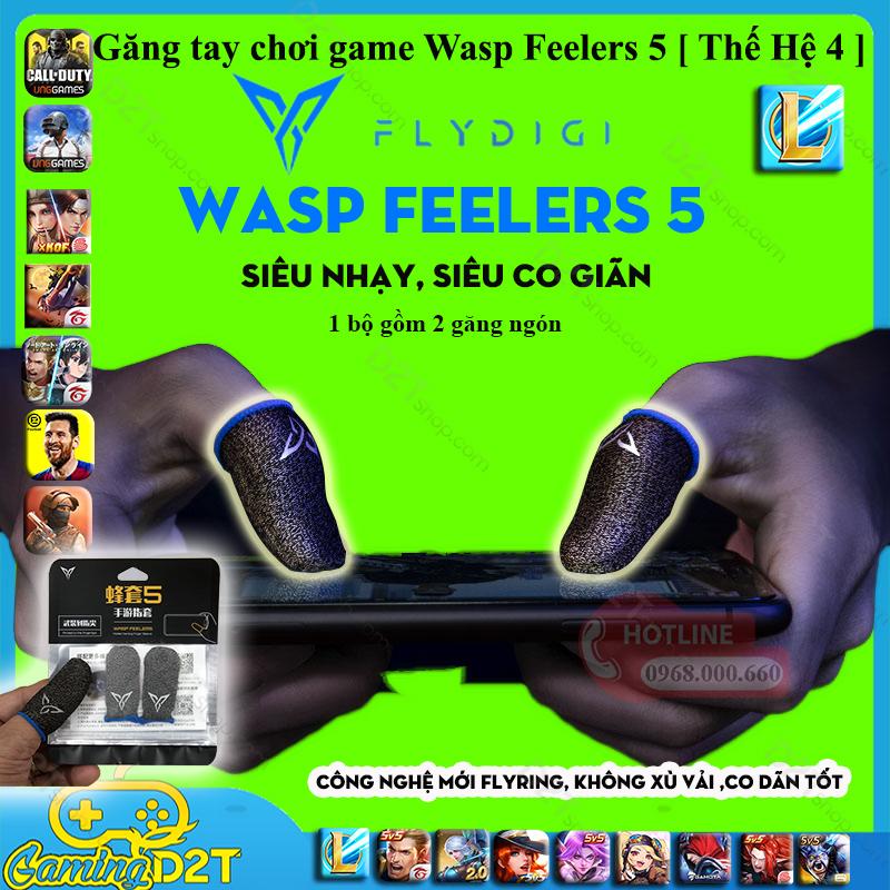 [Nhập ELMAR31 giảm 10% tối đa 200k đơn từ 99k]Flydigi Wasp Feelers 5 găng tay chơi game PUBG chống mồ hôi siêu nhạy siêu co dãn không xù vải