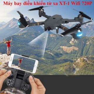 Flycam giá rẻ. Máy ảnh, Máy bay camera thông minh. Máy bay điều khiển từ xa XT-1 kết nối Wifi 2.4 GHz quay phim chụp ảnh Full HD 720P.chất lượng sắc nét. Giá cả phải chăng. BH uy tín 1 năm trên toàn quốc thumbnail