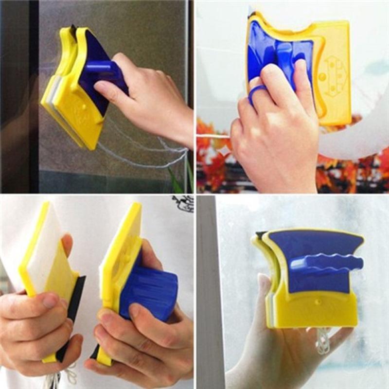 Dụng Cụ Lau Kính, Bộ Dụng Cụ Lau Cửa Kính Đa Năng Double Sided Glass Cleaner Cao Cấp Thiết Kế Nhỏ Gọn, Tiện Dụng Sale 50%