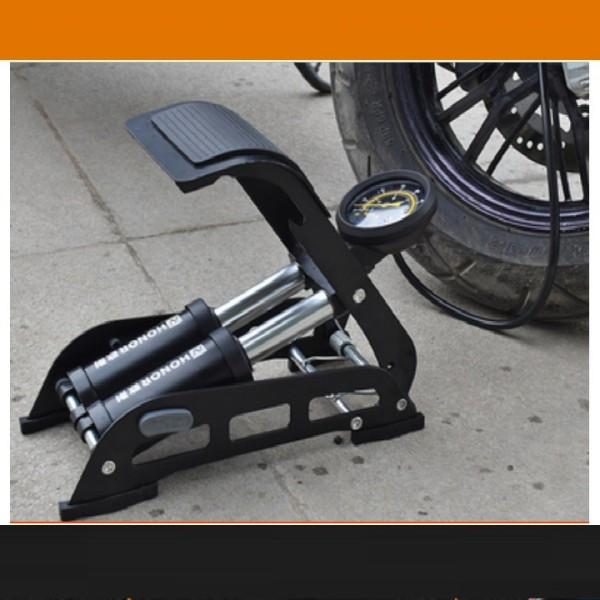 Bơm xe máy,xe đạp ô tô đạp chân loại tốt-Ống bơm hơi 2 piston chất lượng