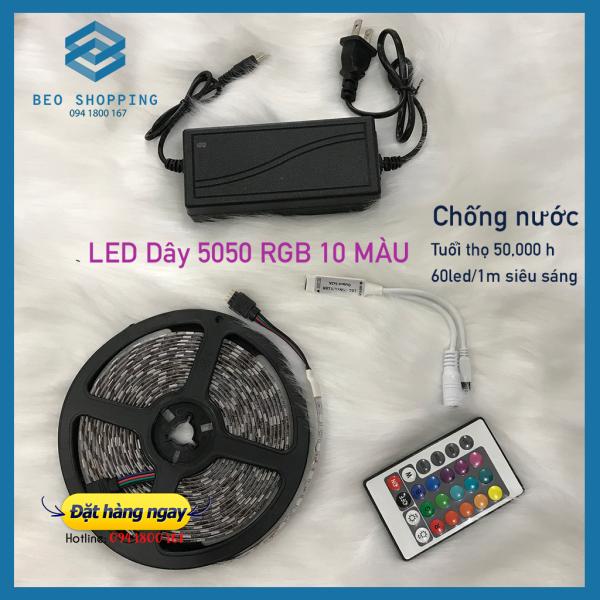 Bảng giá Dây LED u001dRGB chống nước 5050 độ dài 5M quay tiktok, video, livestream bán hàng, trang trí xe hơi, nhà