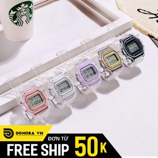 Đồng hồ điện tử thể thao nam nữ S189, Đồng hồ mang đi học đi chơi, Mặt vuông đèn led, 5 màu lựa chọn, chống nước sinh hoạt thumbnail
