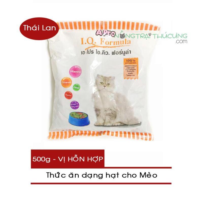 Thức ăn hạt cho Mèo APRO IQ Formula (Thái Lan) gói 500g - [Nông Trại Thú Cưng]
