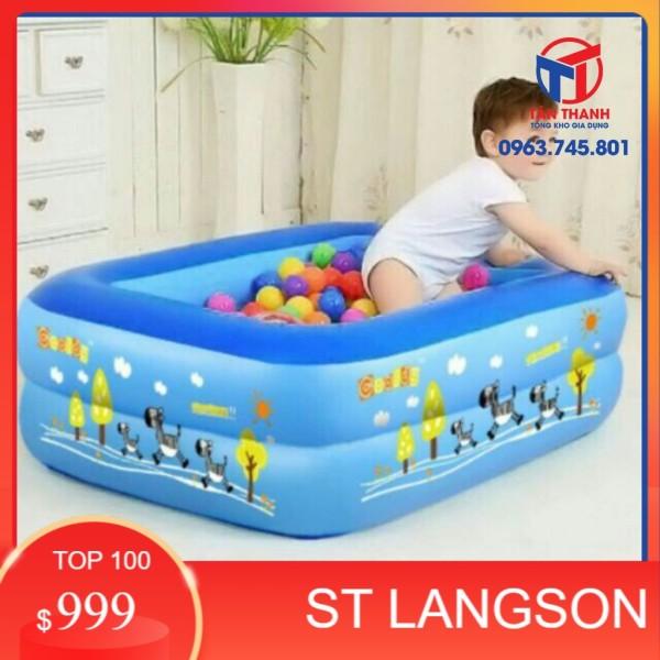 (SLS) [ sale mùa hè] Phao bơi hình chữ nhật 2 tầng 1m2 .