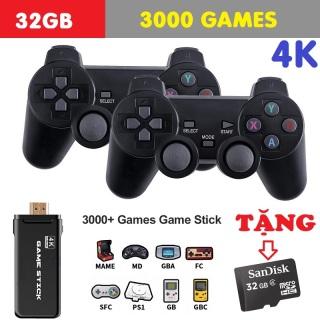 MÁY CHƠI GAME 4 NÚT KHÔNG DÂY 4K HDMI Bảng Điều Khiển Trò Chơi Điện Tử ps3000 4K Ultra Hd Game Stick Lite - Hỗ trợ tải thêm và sao chép game thumbnail