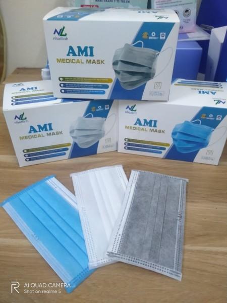 Giá bán Hôp khẩu trang y tế 4 lớp Ami  kháng khuẩn đủ màu  ( hộp 50 chiếc)