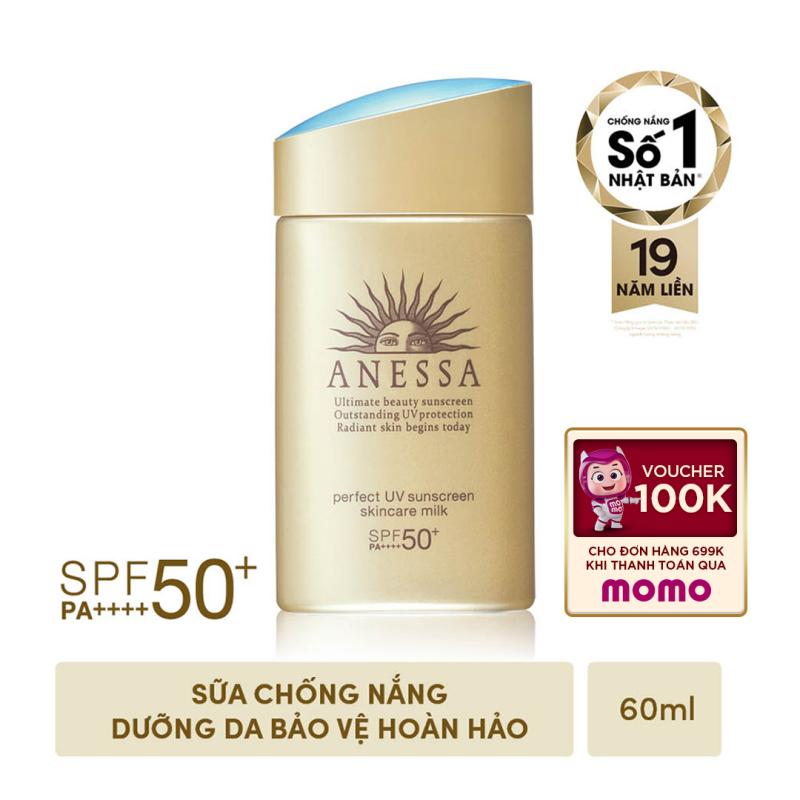 Kem chống nắng dưỡng da dạng sữa bảo vệ hoàn hảo Anessa Perfect UV Sunscreen Skincare Milk 60ml giá rẻ