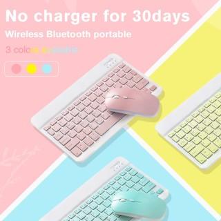 Bàn phím và chuột không dây bluetooth 10 7 inch Bộ bàn phím và chuột USB mini nhẹ và di động, phù hợp với máy tính bảng Android iPad máy tính bảng lớp học trực tuyến thumbnail
