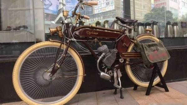 Mua xe máy cổ - xe đạp cổ - Xe đạp máy cổ điển  1924