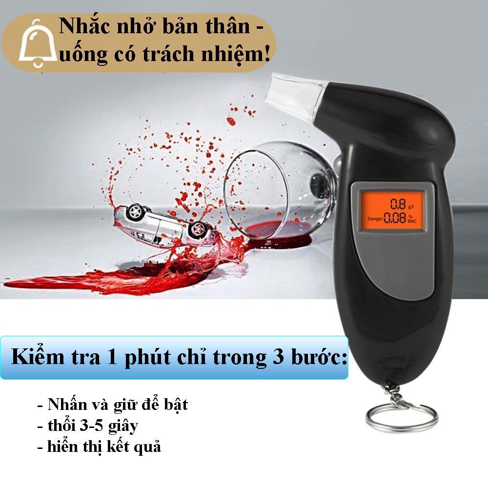 Máy đo nồng độ cồn Alcohol Tester chính xác tuyệt đối sai số 0.001% - Máy kiểm tra cồn hơi thở cao cấp 2020