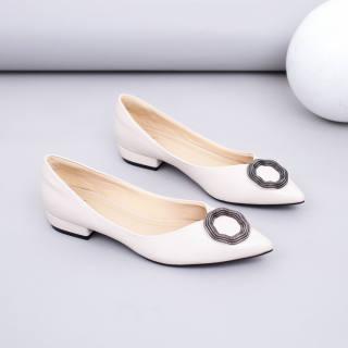 Giày Búp Bê Mũi Nhọn Khoá Tròn Pixie X688
